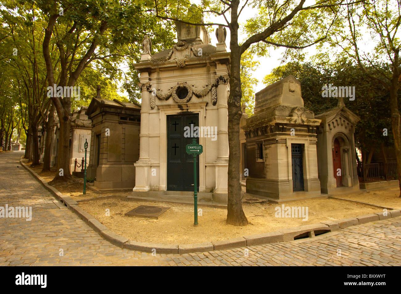 Paris France - Pere La Chaise - cemetry - Stock Image