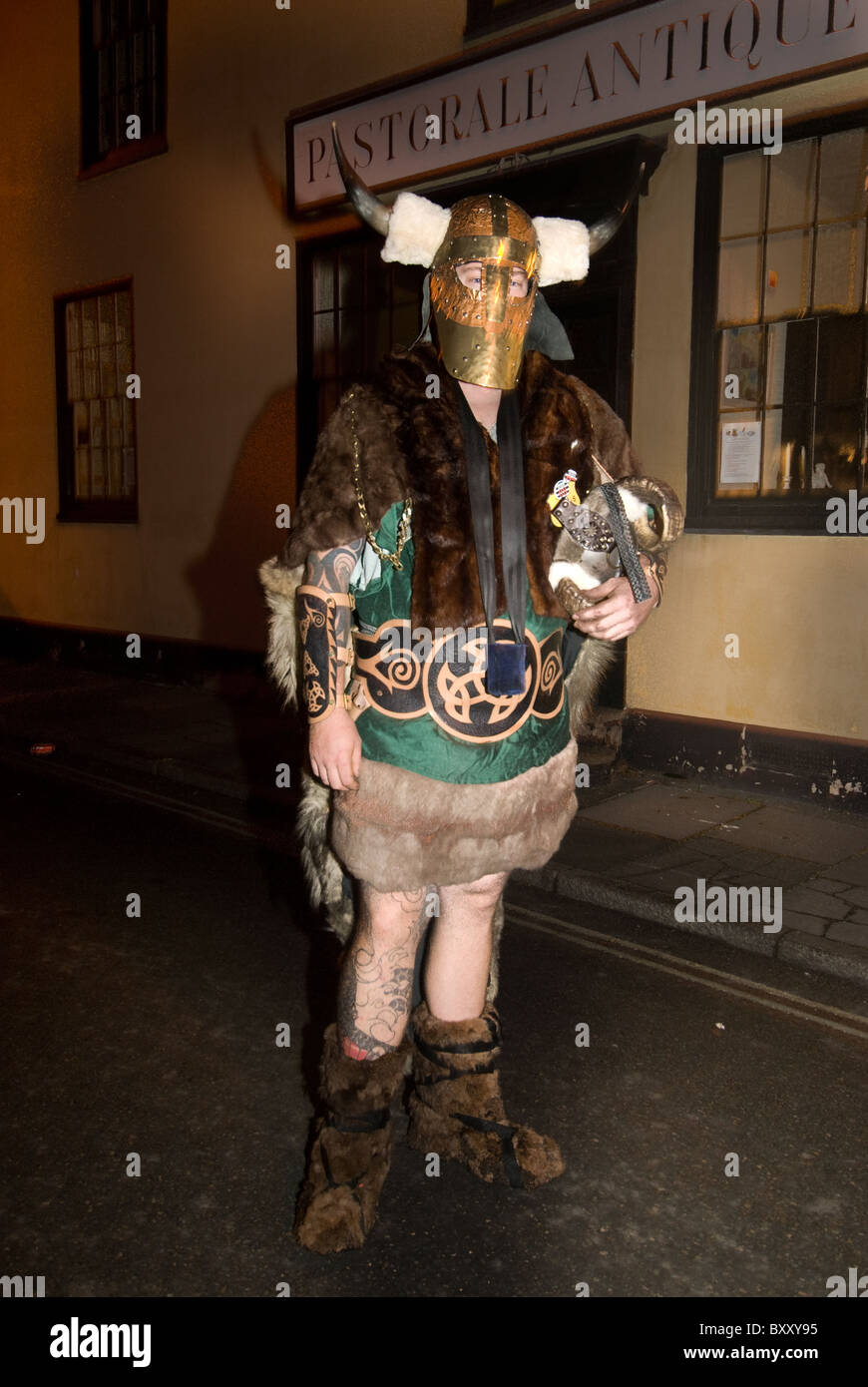 Man in Viking costume for Lewes Bonfire night - Stock Image & Viking Costume Stock Photos u0026 Viking Costume Stock Images - Alamy