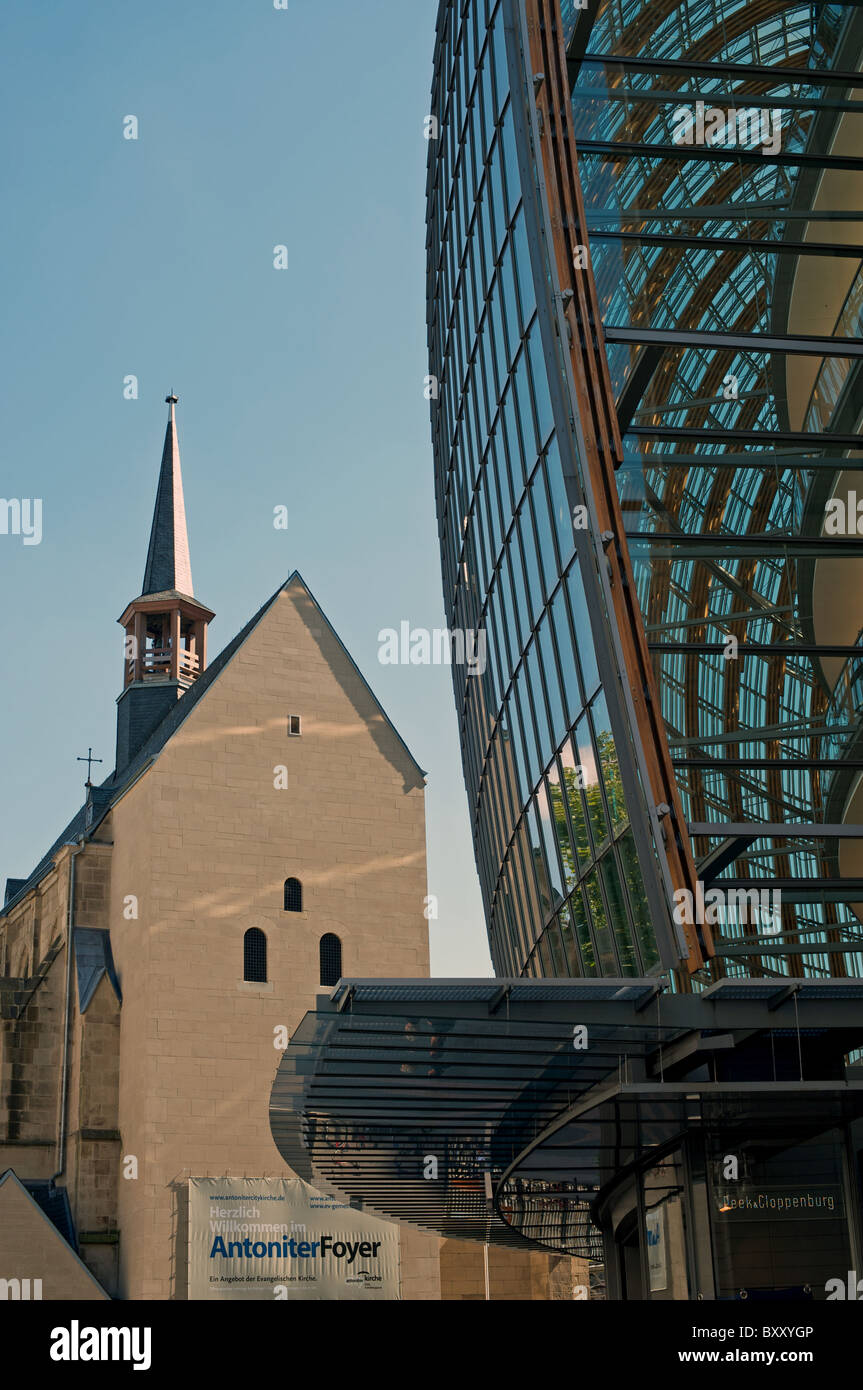 Erangelischen Church and department store, Cologne, Germany. Stock Photo