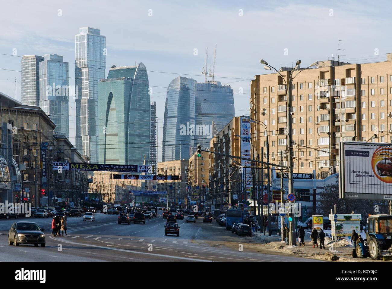 Bolshaya Dorogomilovskaya street in Moscow - Stock Image