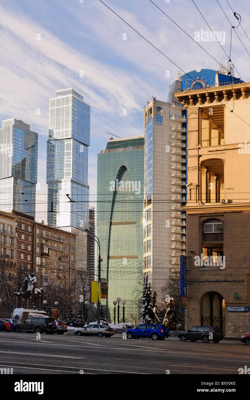 Kutuzovskyi avenue. Moscow, Russia - Stock Image