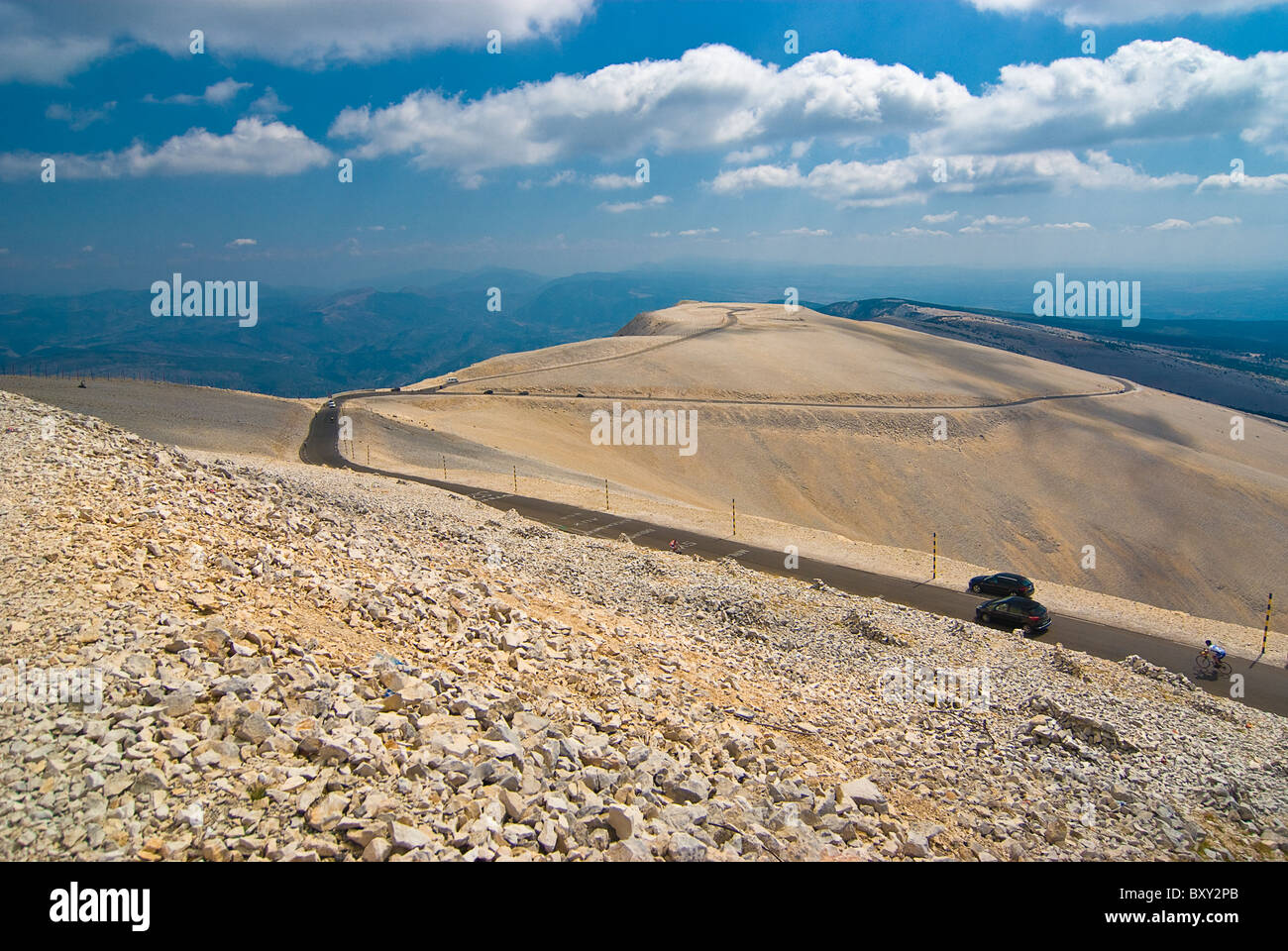 The Mont Ventoux in the provence/france Stock Photo