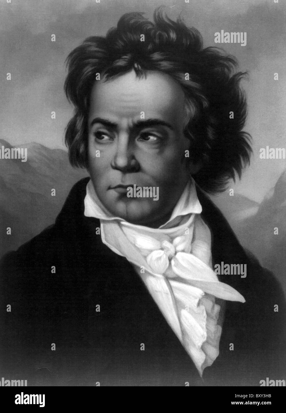 Beethoven, Ludwig van Beethoven, German composer and pianist. - Stock Image
