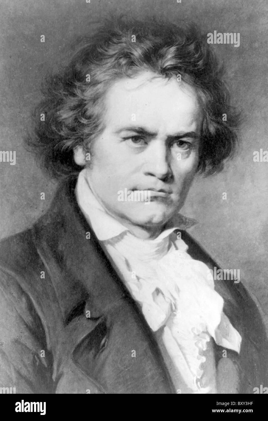 Beethoven, Ludwig van Beethoven, German composer and pianist. Stock Photo