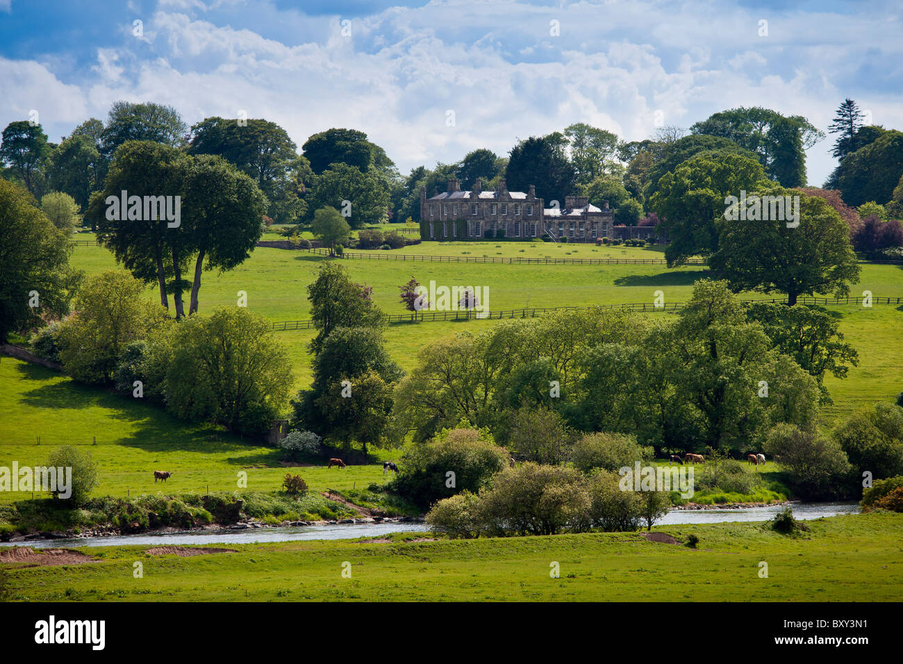 Elegant Fort William House at Glencairn near Lismore, County Waterford, Ireland Stock Photo