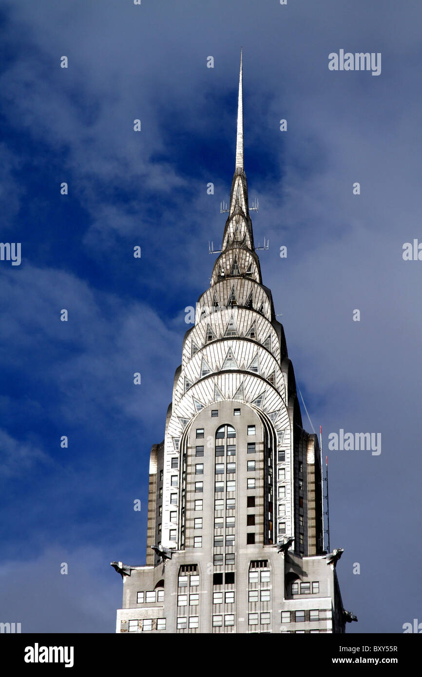 The Chrysler Building, skyscraper with Art Deco architecture in New York, America - Stock Image