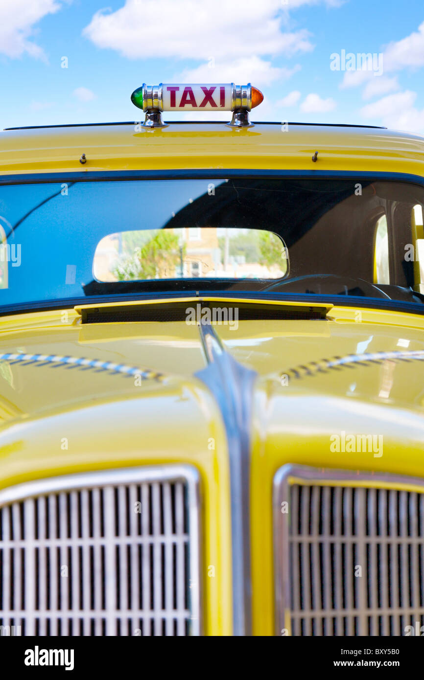 Yellow taxi - Stock Image