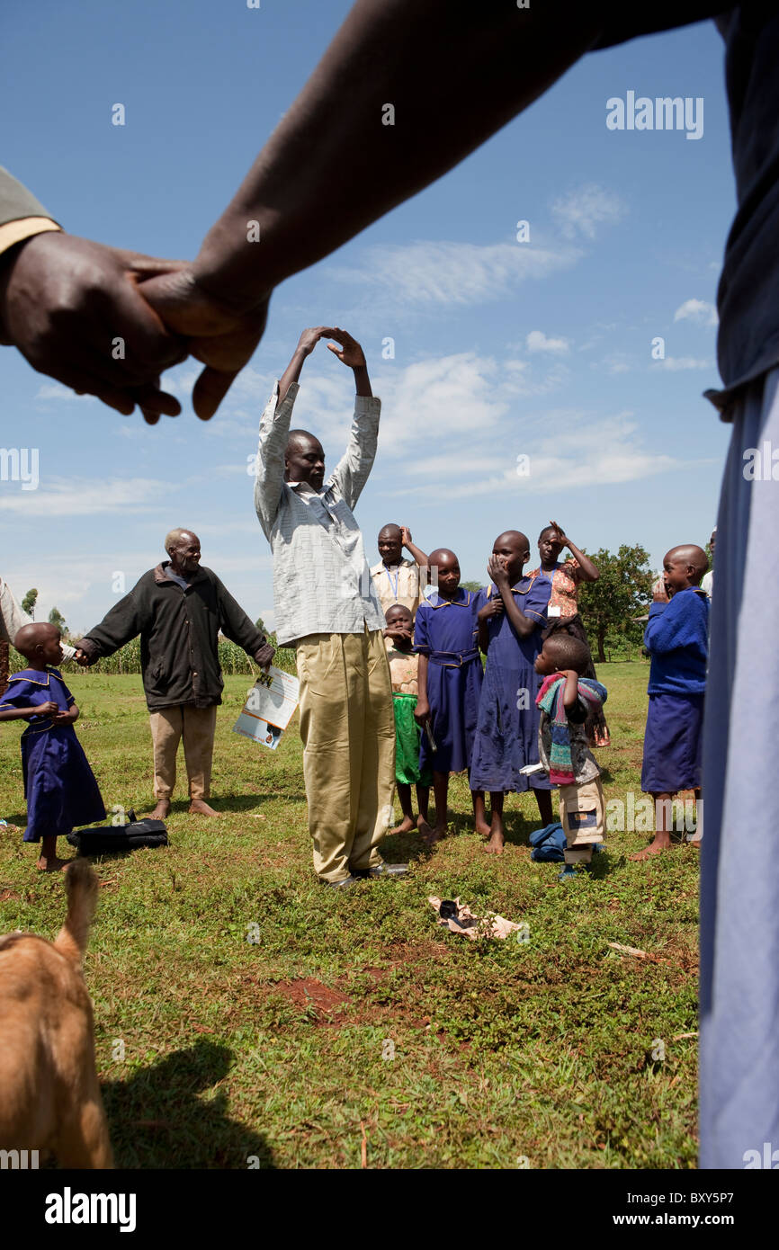 Community Agriculture Meeting in Webuye, Kenya, East Africa. - Stock Image