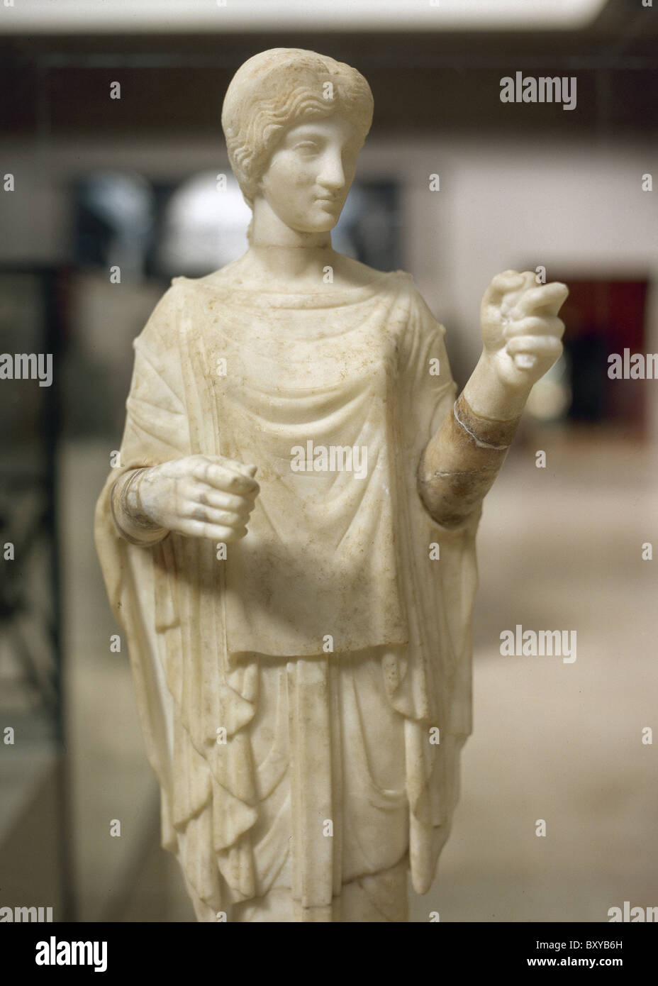 Artemis. Huntress goddess. Roman marble sculpture, dating from the second century. Ephesus Museum. Selçuk. Turkey. Stock Photo