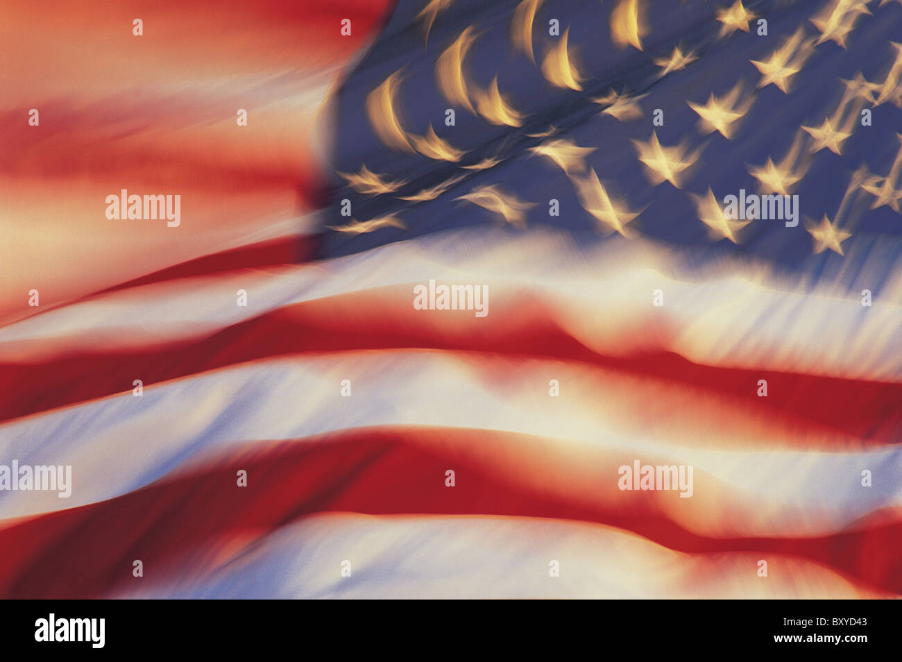 American flag, USA - Stock Image