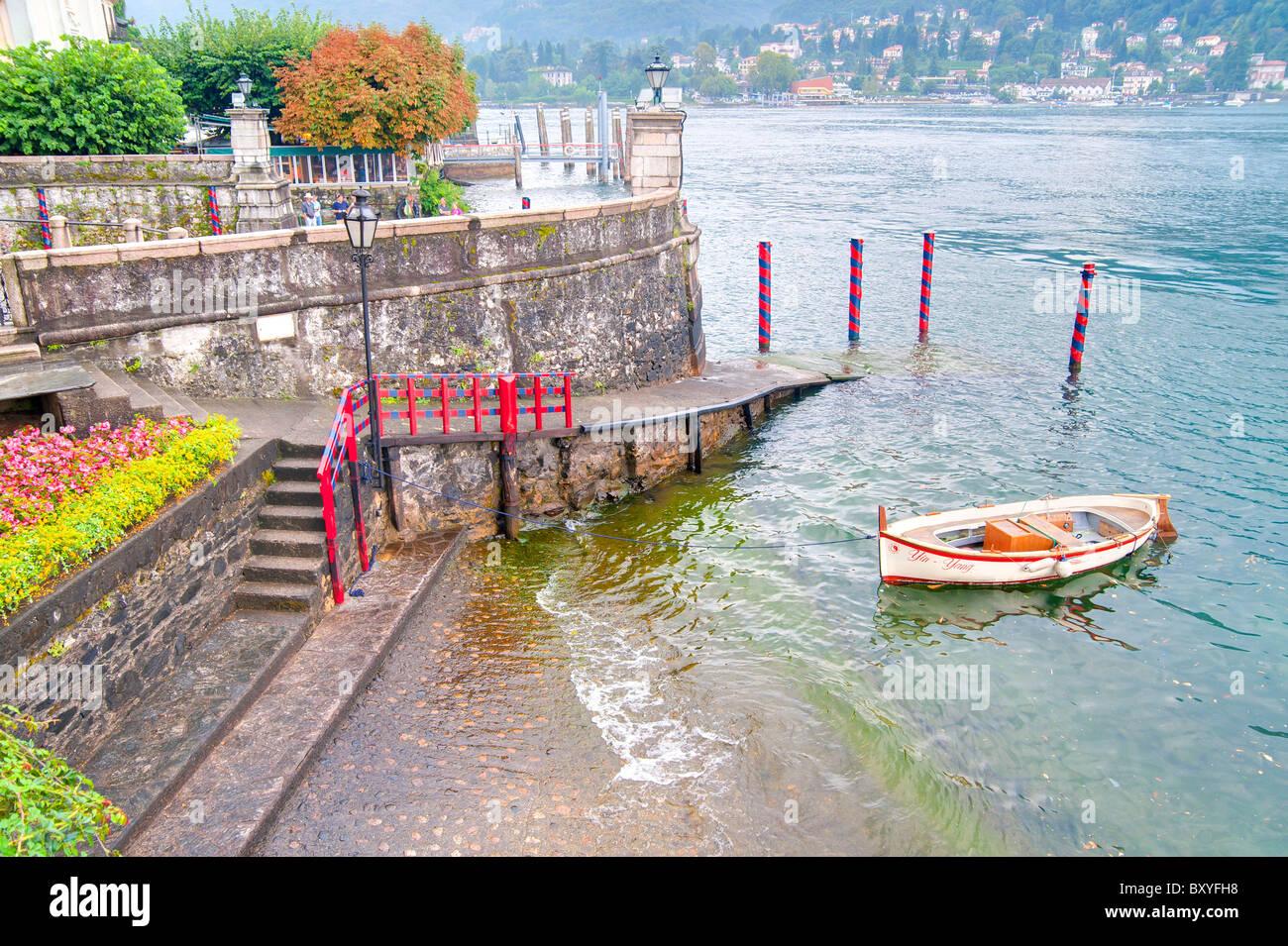 Docks Isola Bella Lago Maggiore Italy - Stock Image