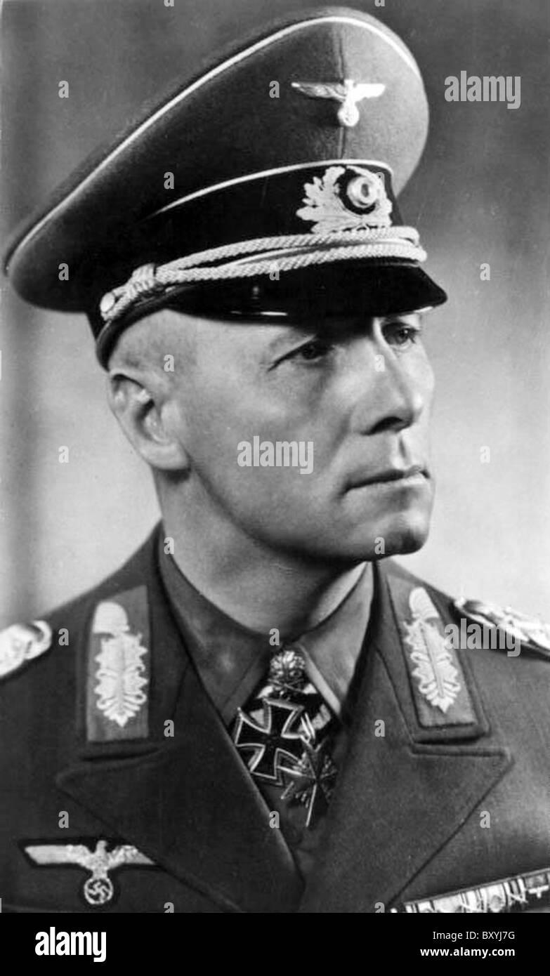 ERWIN ROMMEL (1891-1944)  WW2 German Field Marshall - Stock Image