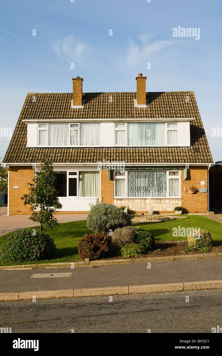 1960s semi detached houses ipswich suffolk uk stock image