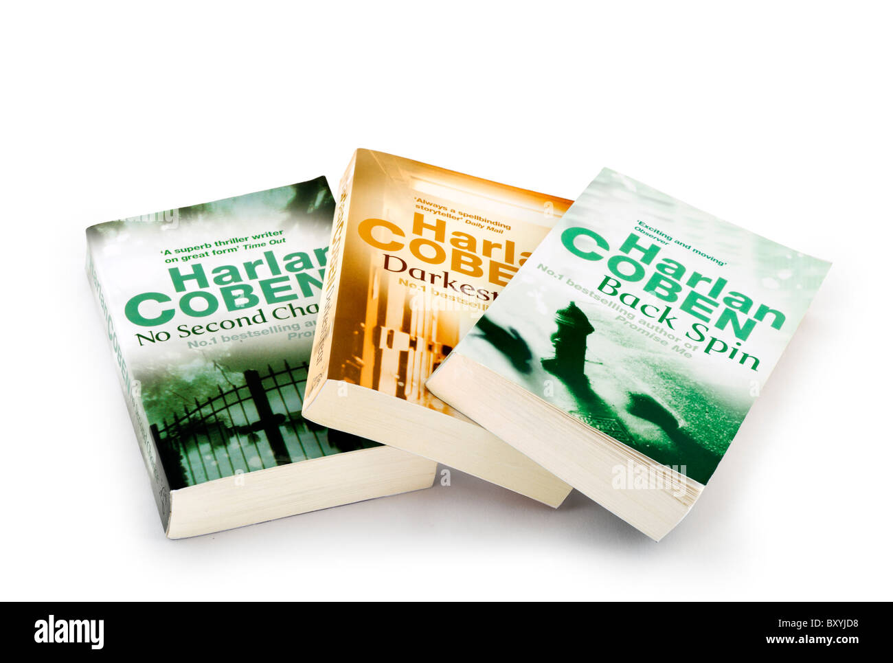 Best selling paperback books by Harlan Coben, UK - Stock Image