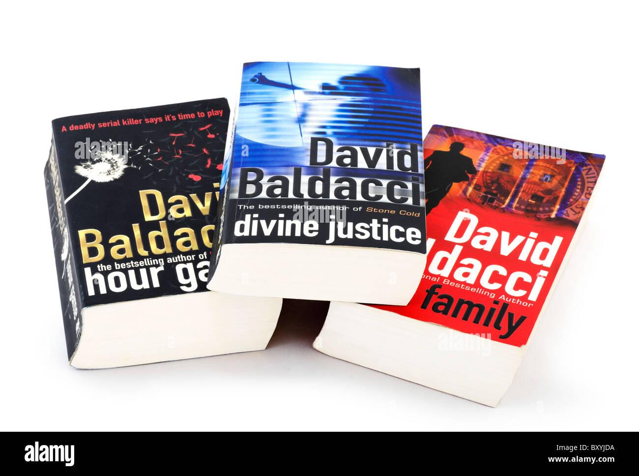 Best selling paperback books by David Baldacci, UK - Stock Image