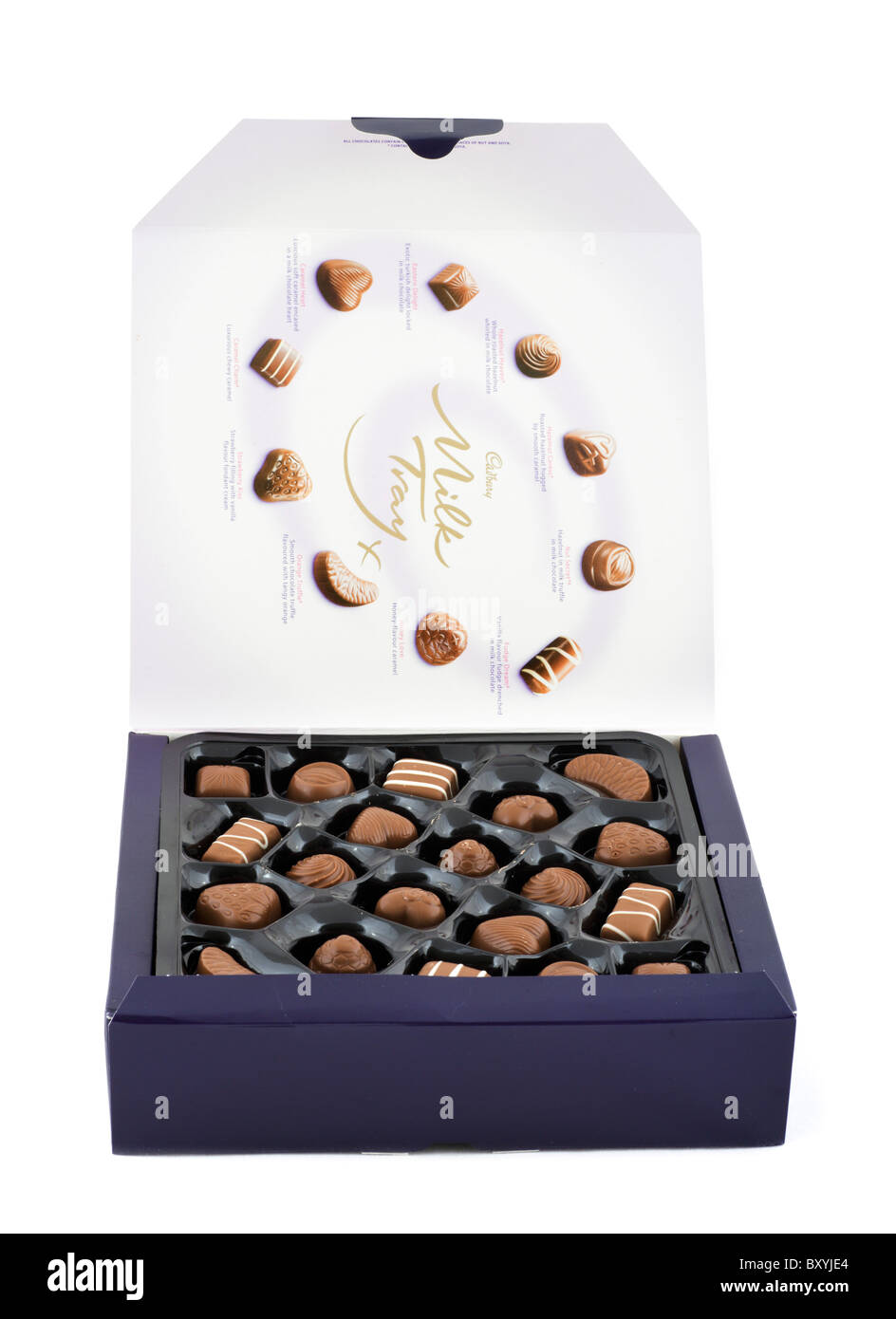 Box of Cadbury's Milk Tray Chocolates, UK - Stock Image