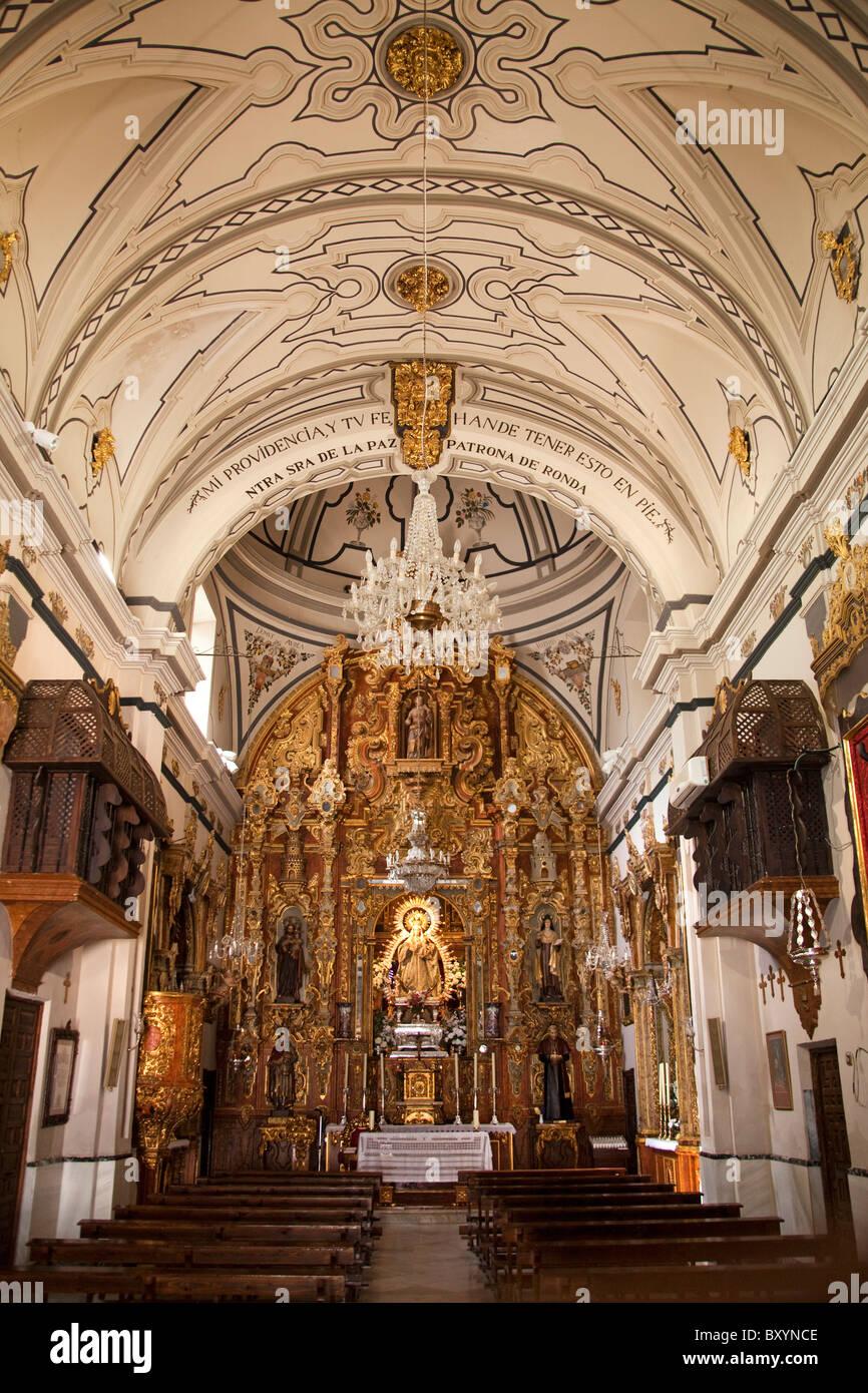 Iglesia Nuestra Señora de la Paz Ronda Málaga Andalucia España Church Our Lady of Peace Andalusia - Stock Image