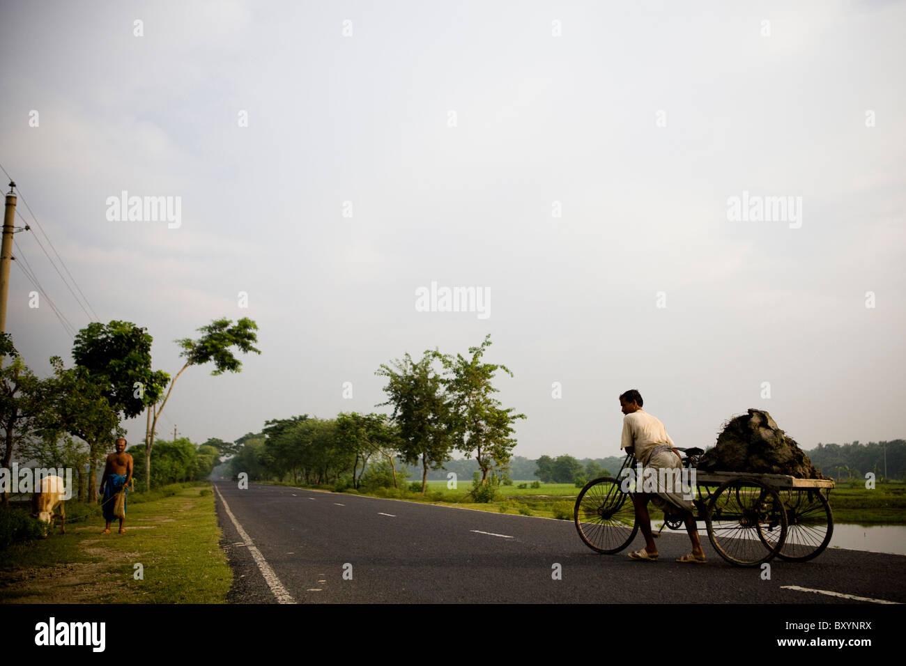Rural scene in Bangladesh - Stock Image