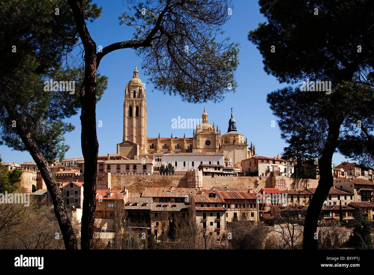 Catedral de Segovia Castilla Leon España Cathedral Segovia Castilla Leon Spain - Stock Image