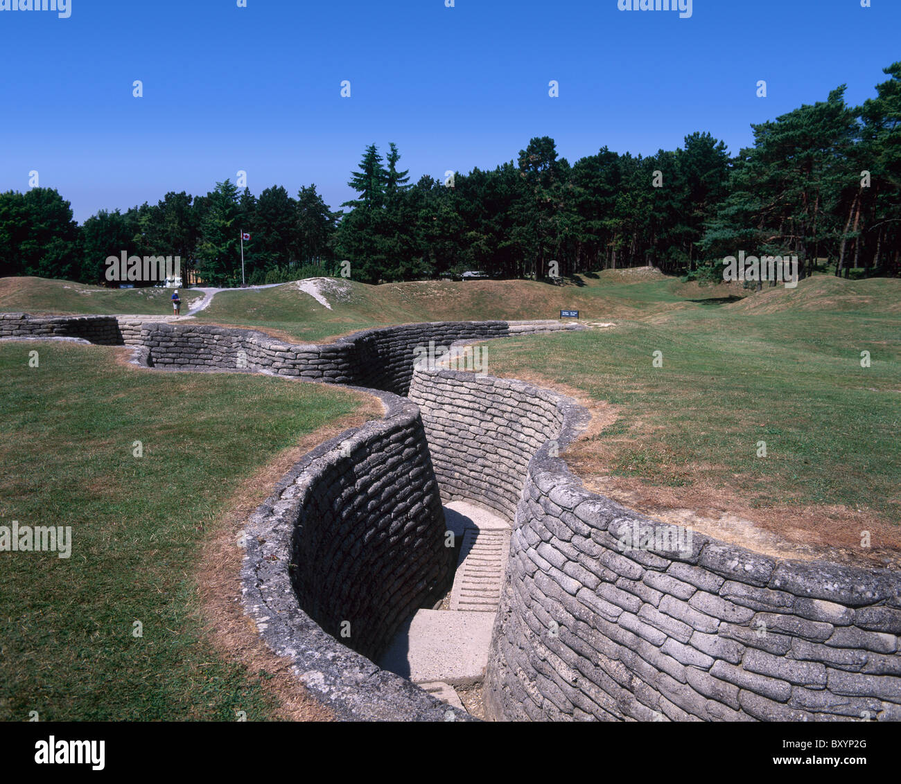 Vimy Ridge Memorial Park: First World War Trenches Vimy Stock Photos & First World