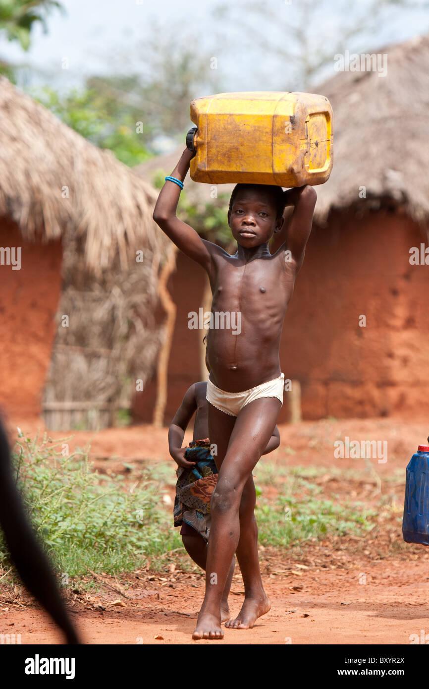 japanese girl in african village