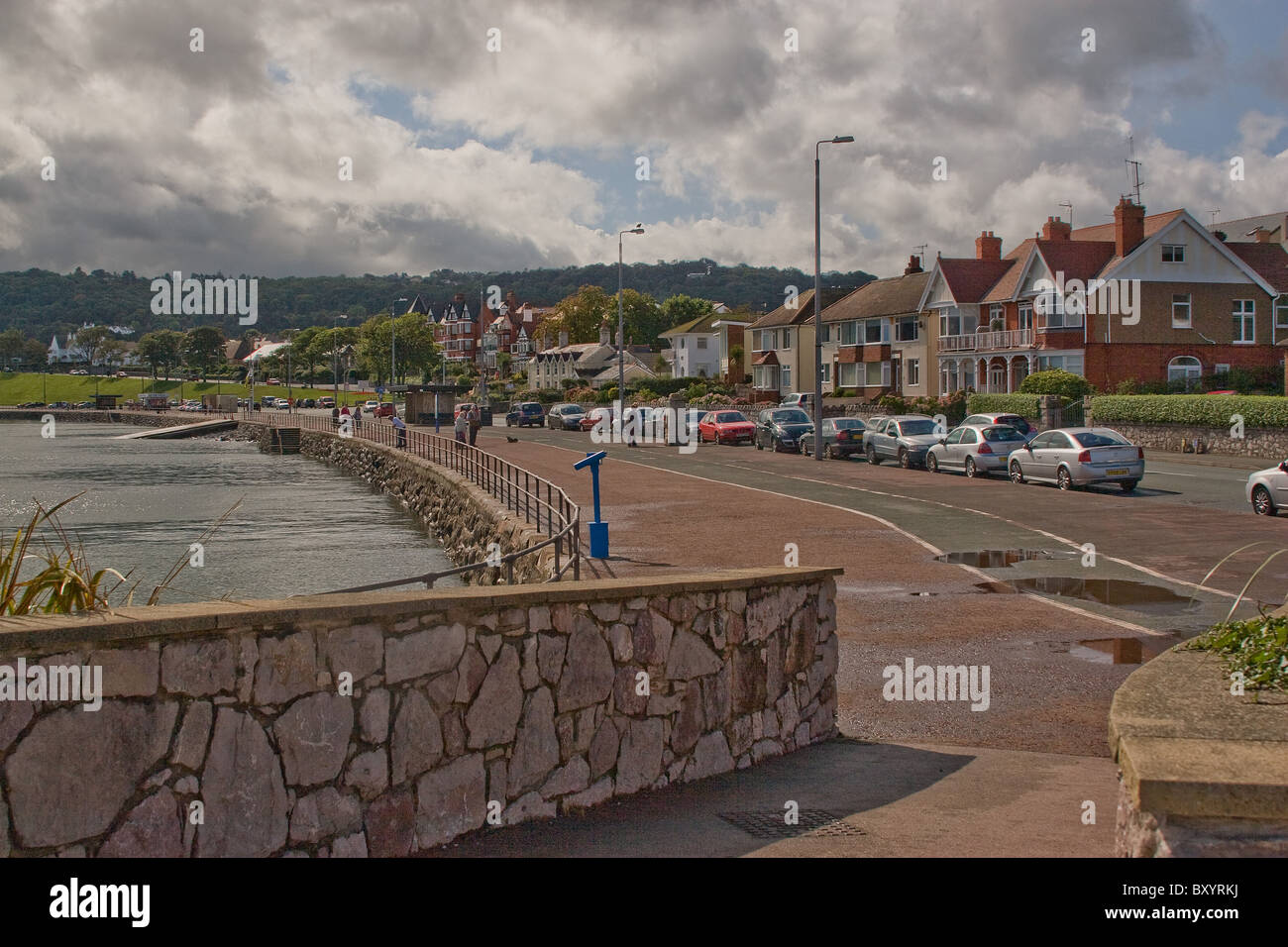 Sea front,Rhos-on-sea,north Wales. Stock Photo