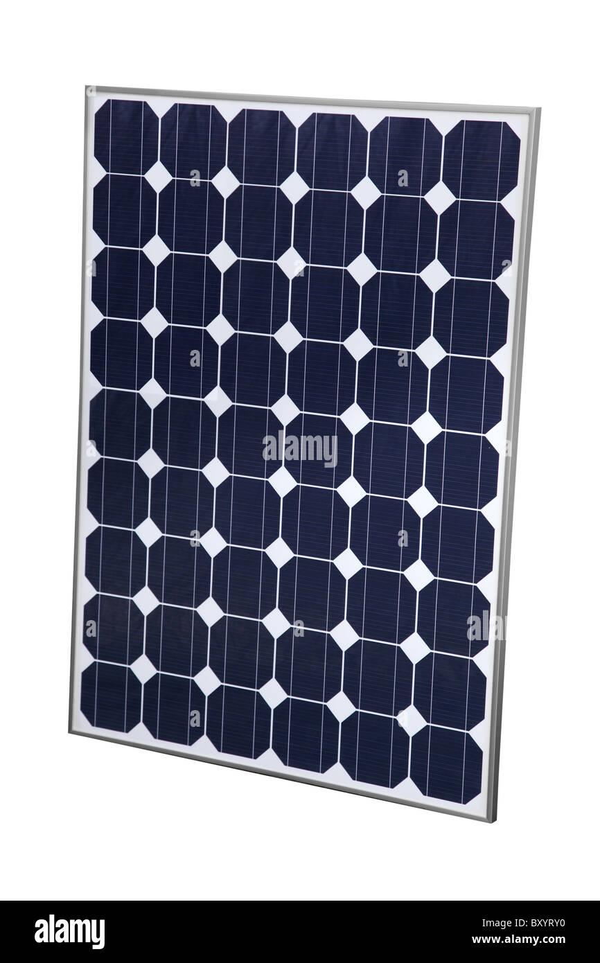 Solar Panel cutout on white background - Stock Image