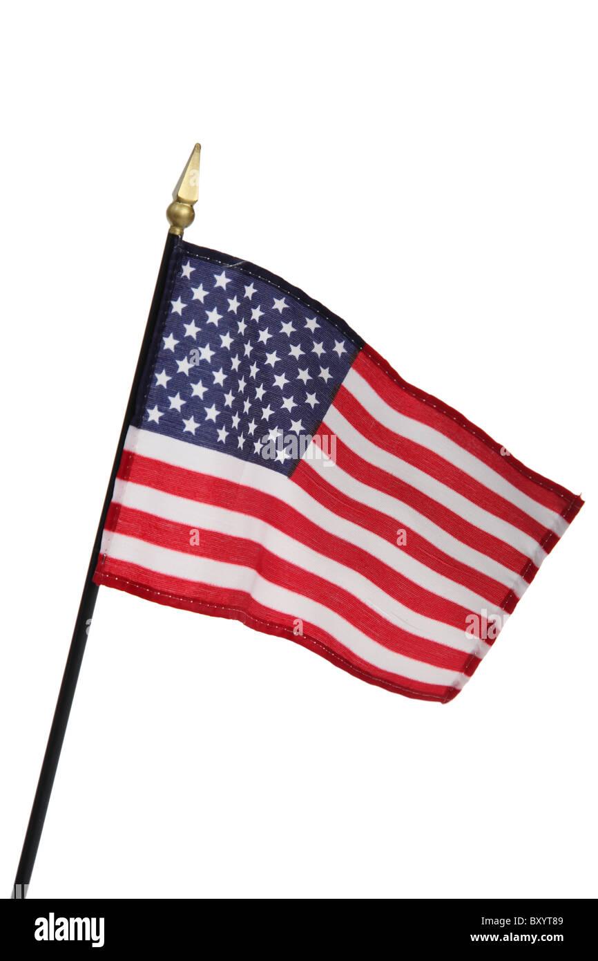 United States of America flag on white background - Stock Image