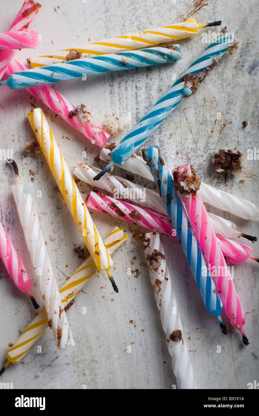Multicolored candles - Stock Image