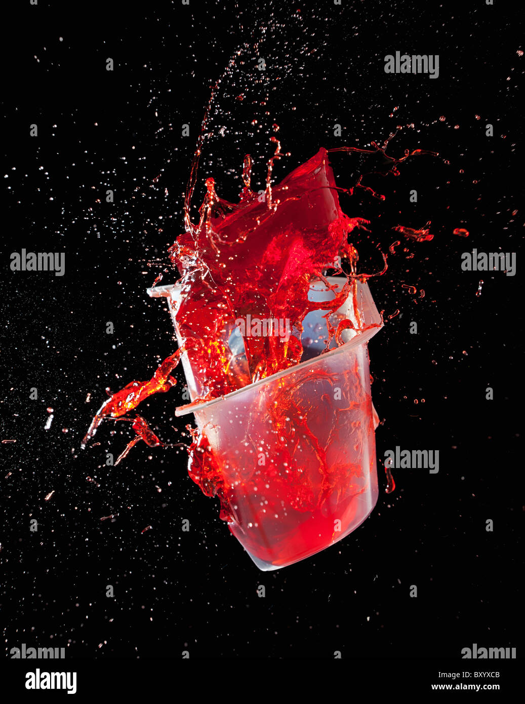 Jelly exploding - Stock Image