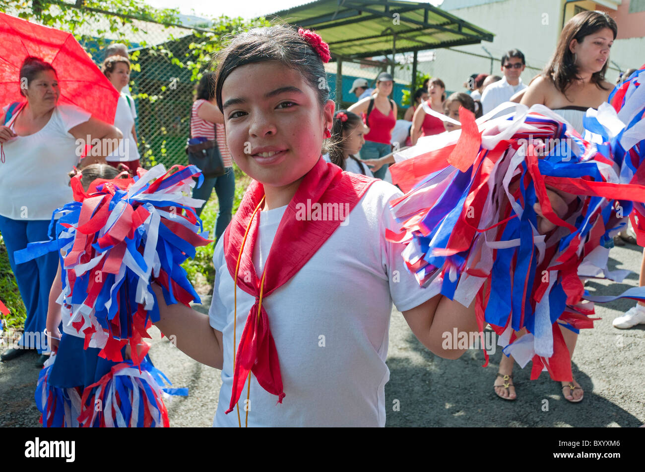 Costa Rica Independence day Central Valley - Stock Image