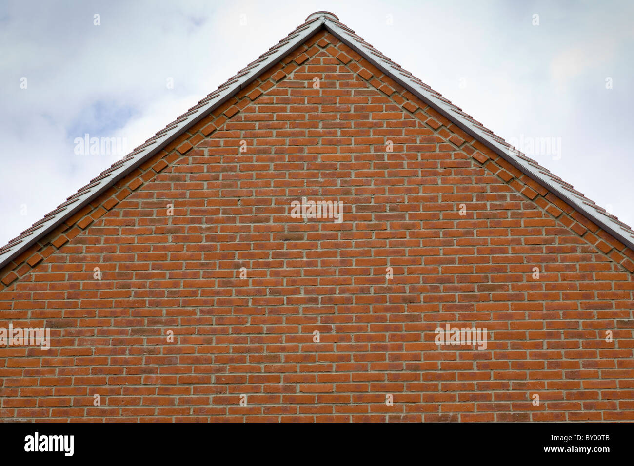 brick building gable end stock photos brick building