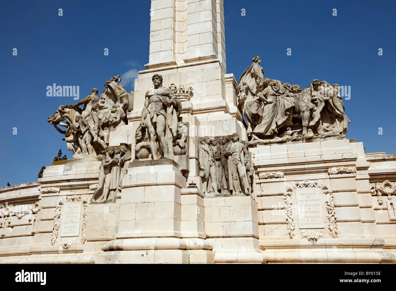 Monumento a la Constitución de 1812 Cádiz Andalucía España Monument to the Constitution of 1812 - Stock Image