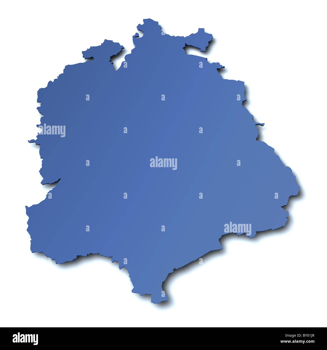 Map of  canton Zurich - Switzerland - Stock Image