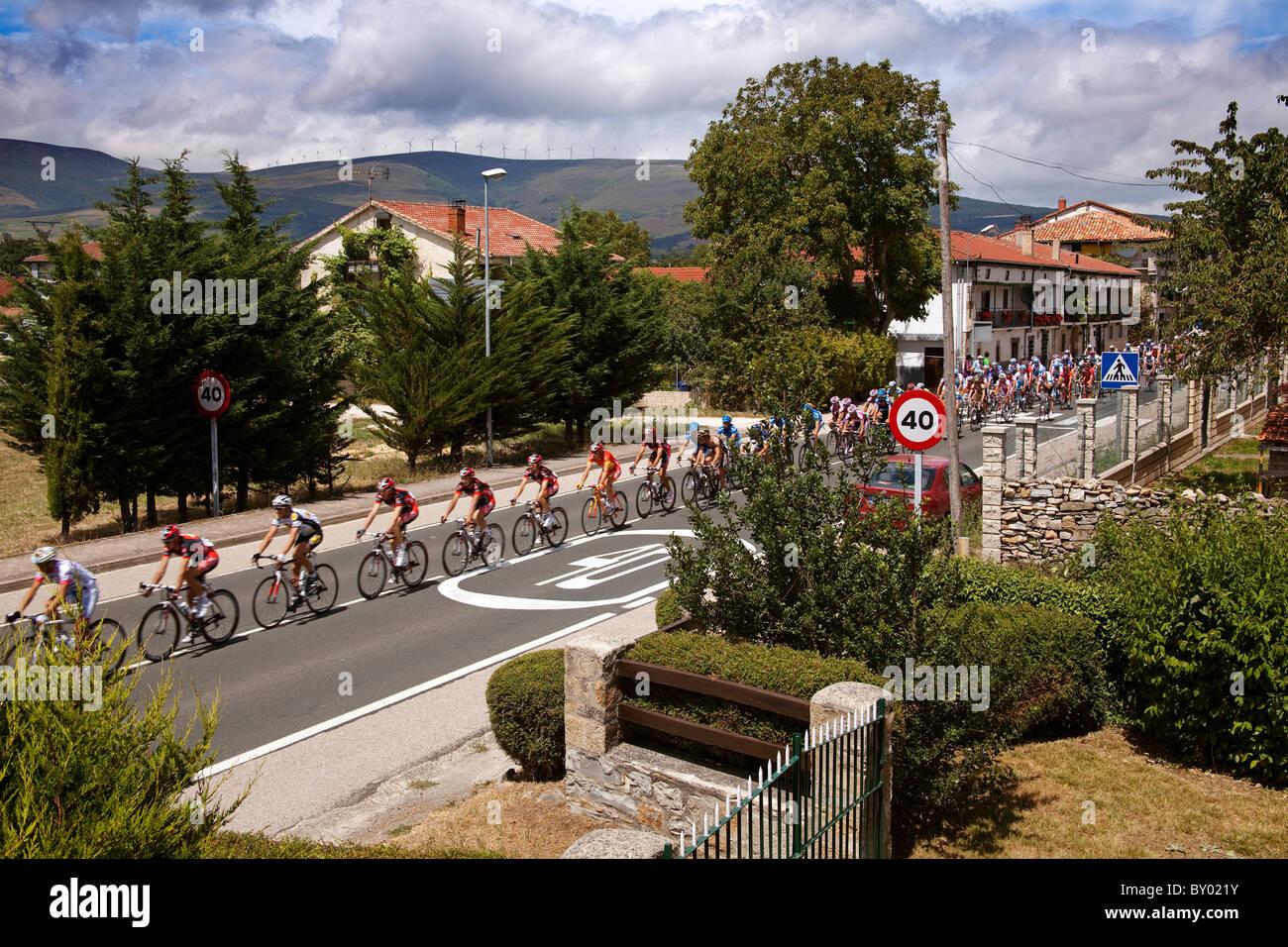 Vuelta ciclista a Castilla Leon España our of Castilla Leon Spain - Stock Image