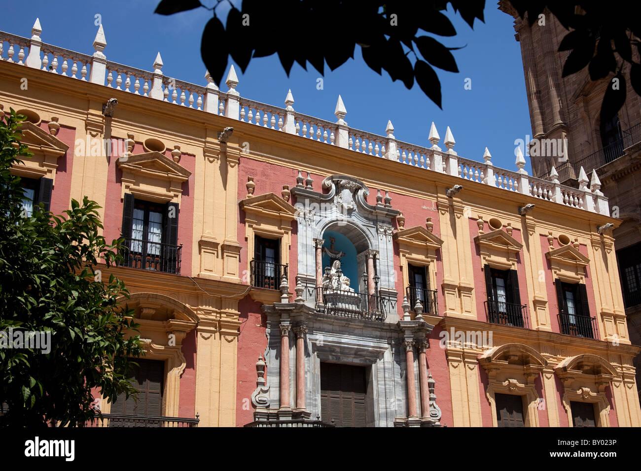 Palacio Episcopal Málaga Andalucía España Episcopal Palace Malaga Andalusia Spain Stock Photo