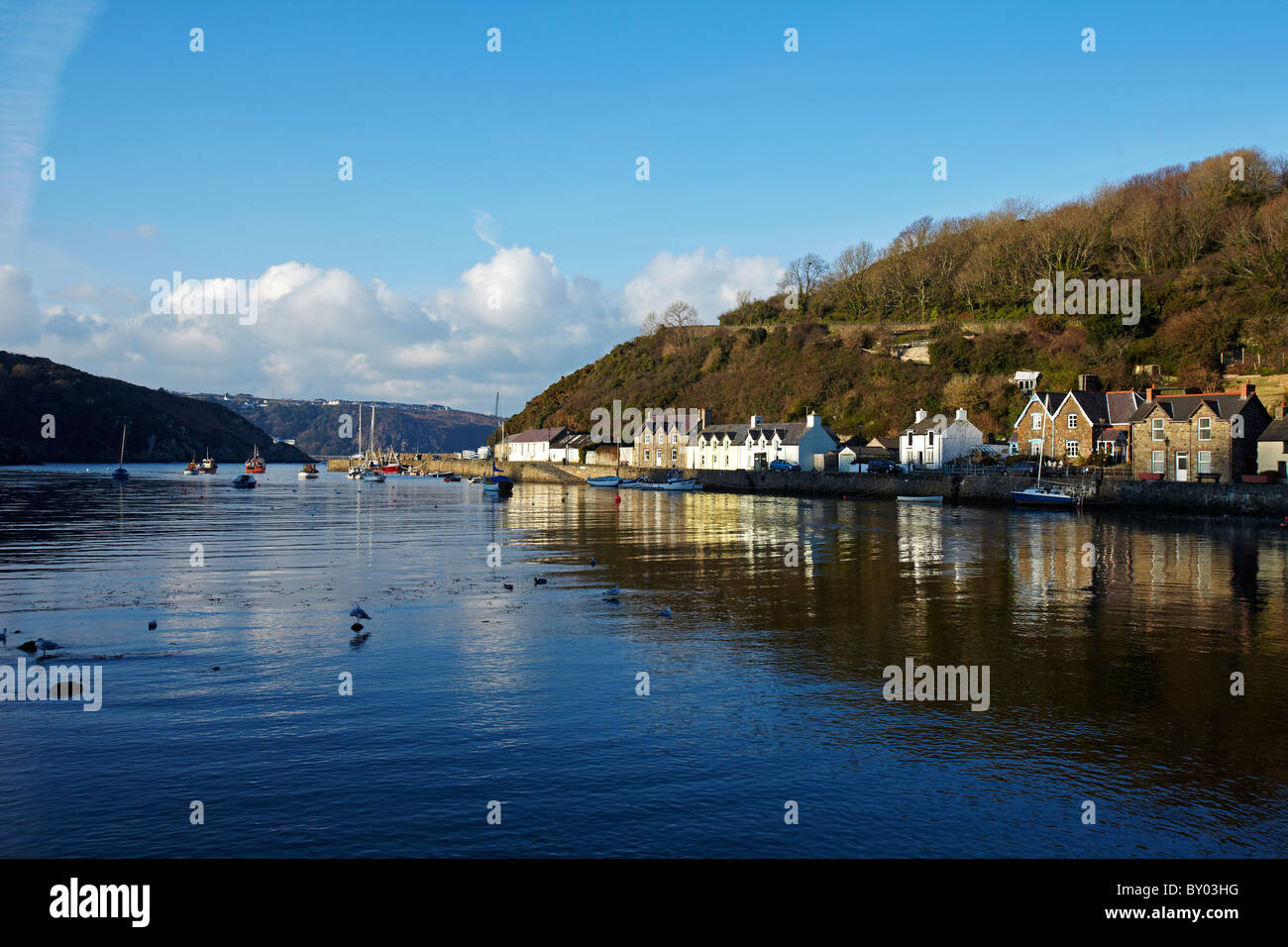 Fishguard Harbour, Fishguard, West Wales, UK - Stock Image