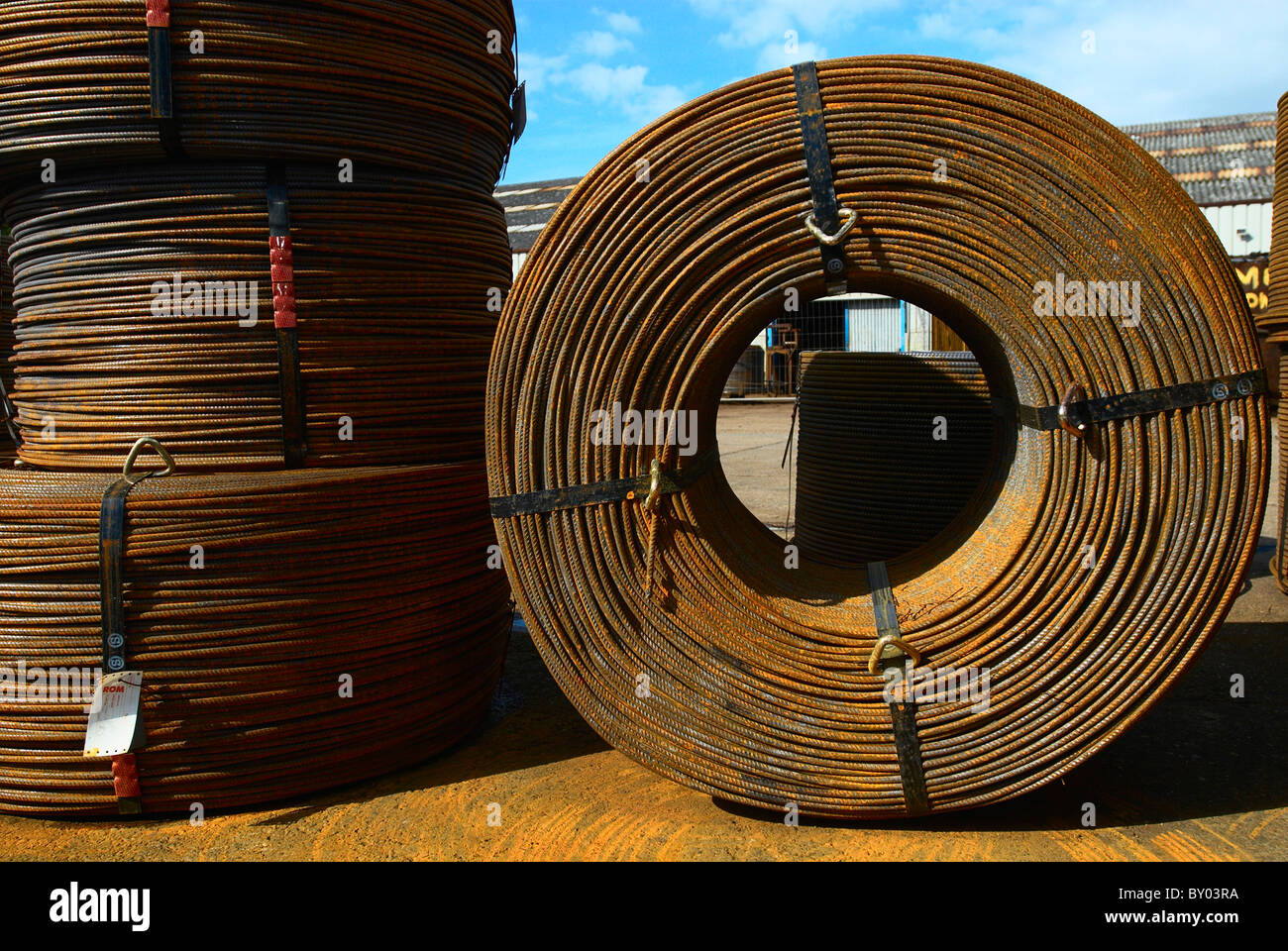 Concrete reinforcement steel - Stock Image