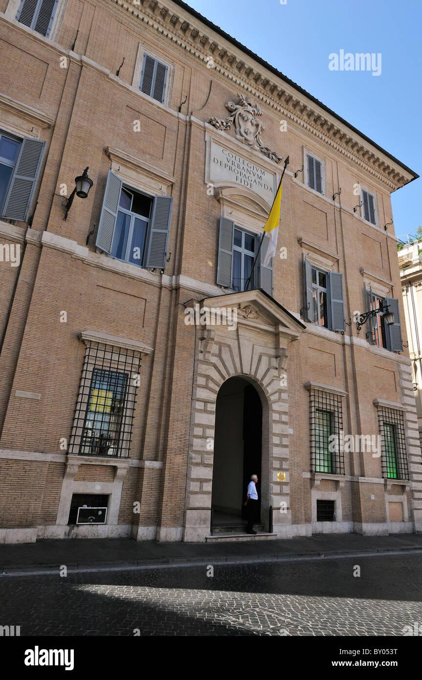 Rome. Italy. Palazzo di Propaganda Fide. Stock Photo
