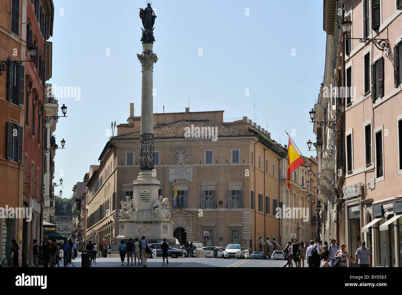 Rome. Italy. Palazzo di Propaganda Fide. - Stock Image