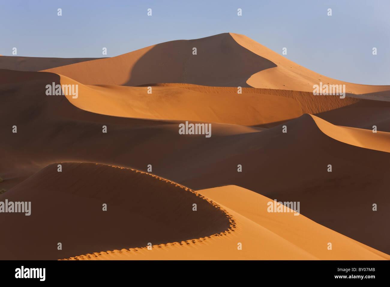 Sand dunes, Namib Naukluft National Park, Namibia - Stock Image