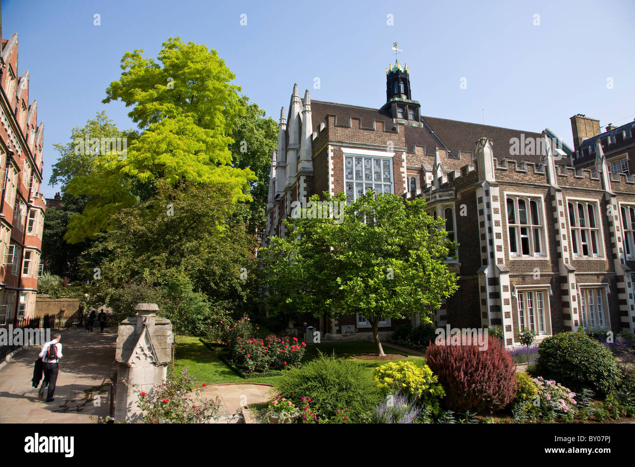 Middle Temple Hall garden in the Inns of Court - Stock Image