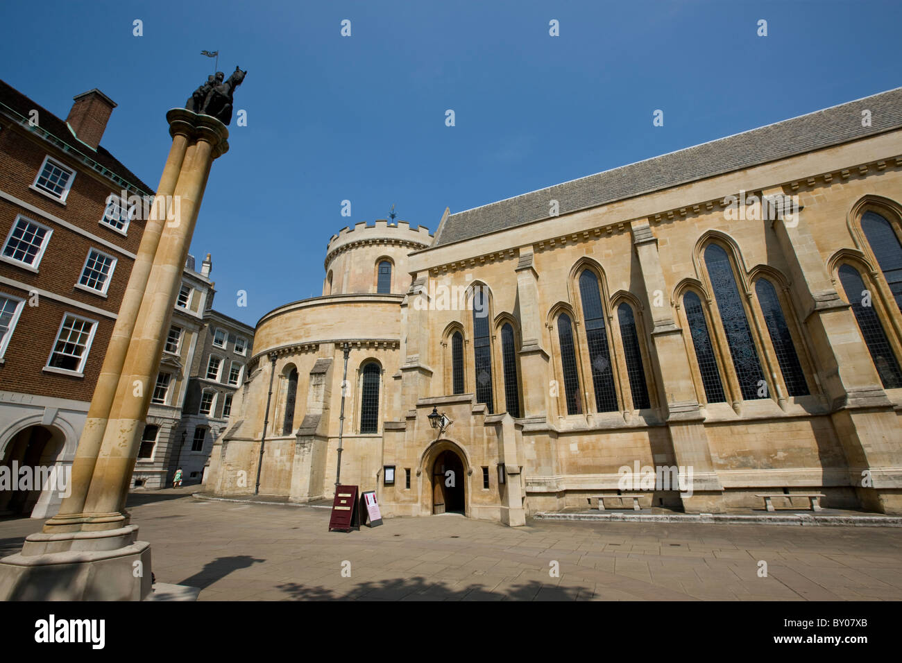 Temple Church in the Inns of Court - Stock Image