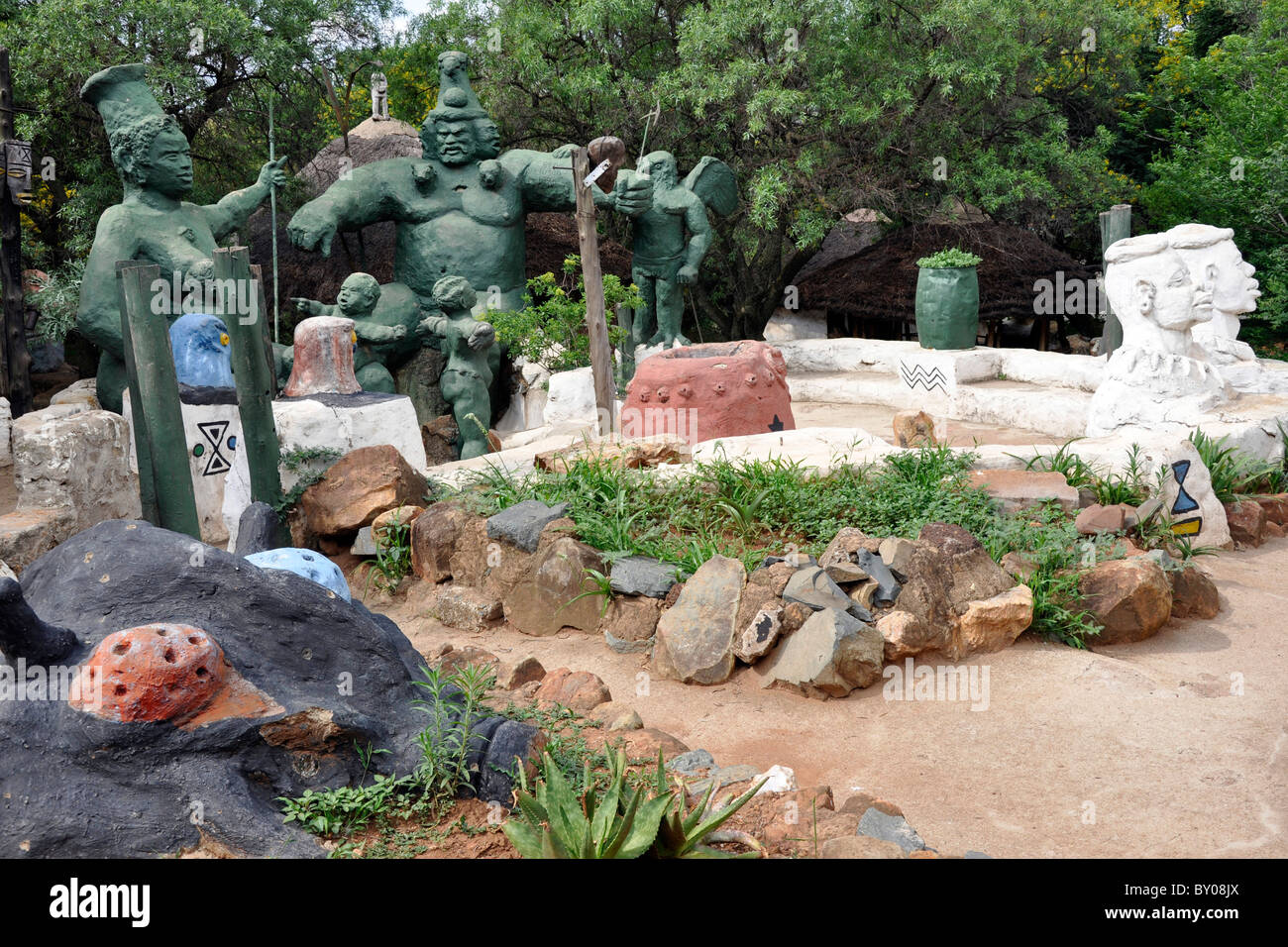 Credo Mutwa Cultural Village, Soweto, Johannesburg, South Africa Stock Photo