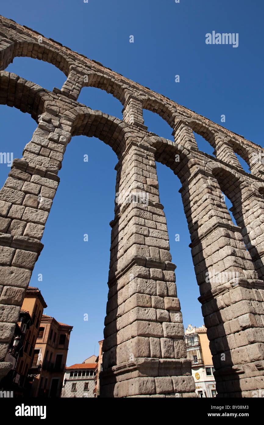 Acueducto de Segovia Castilla Leon España Aqueduct Segovia Spain Castilla Leon - Stock Image