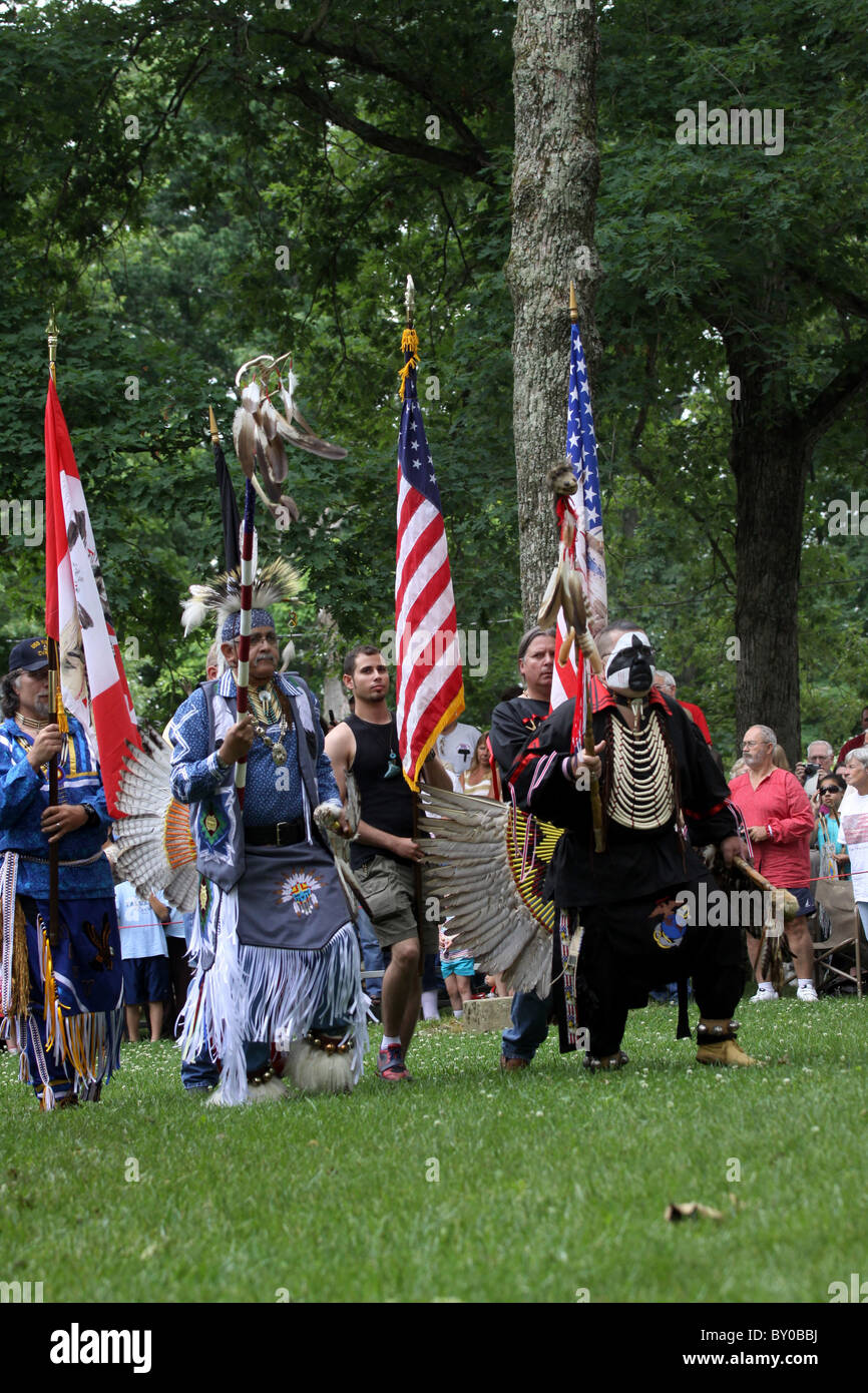 Native American Dancer Pow Wow Fort Ancient Ohio Celebration - Stock Image