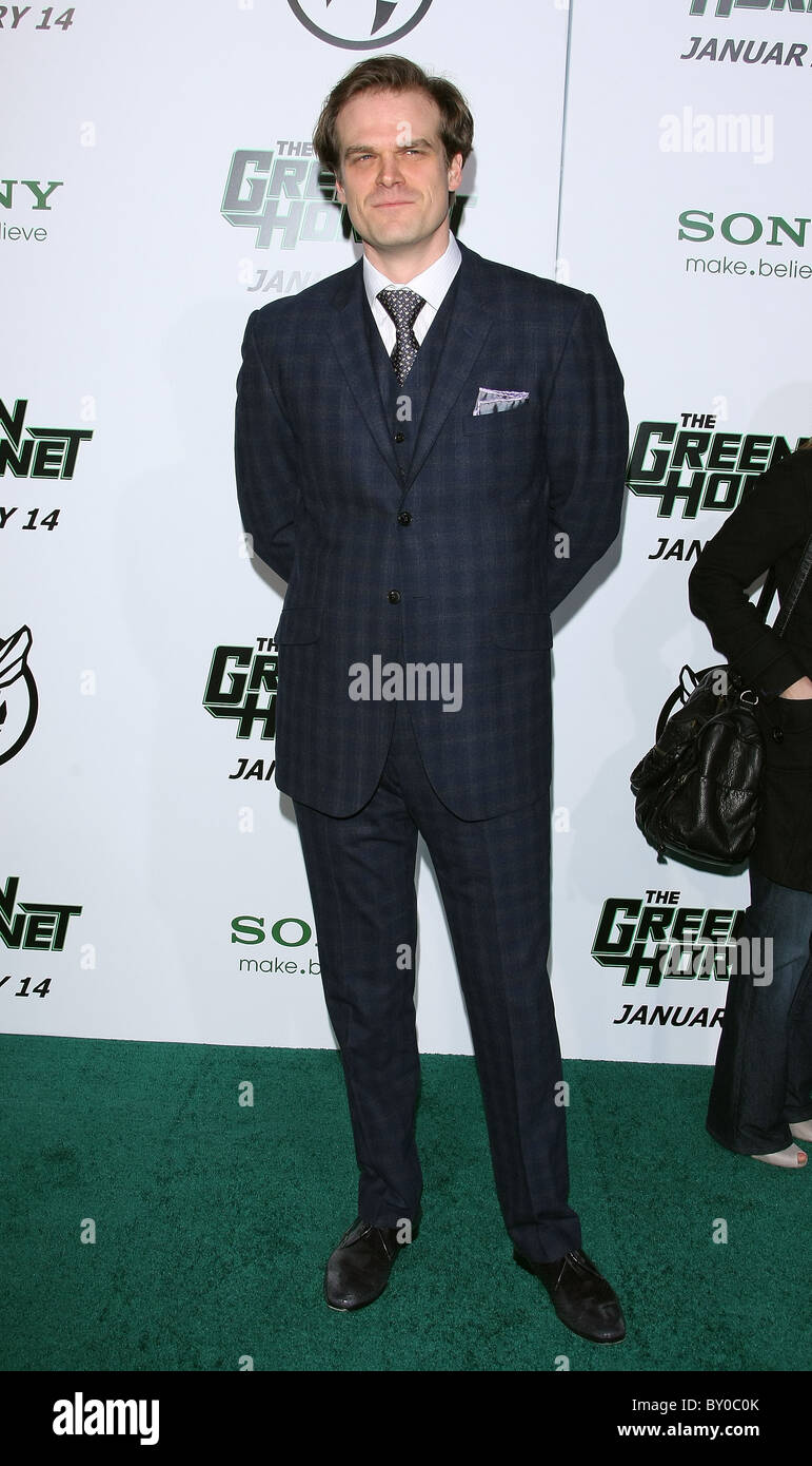 DAVID HARBOUR THE GREEN HORNET PREMIERE HOLLYWOOD LOS ANGELES CALIFORNIA USA 10 January 2011 - Stock Image