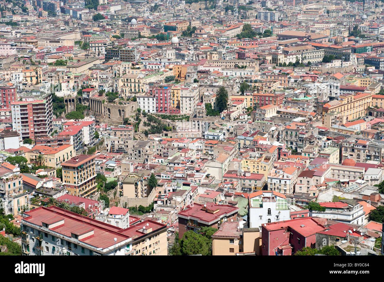 City Overview Naples Campania Italy - Stock Image