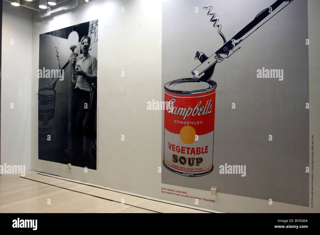 Andy Warhol exhibit at Christie's Auction House, Manhattan, New York City - Stock Image