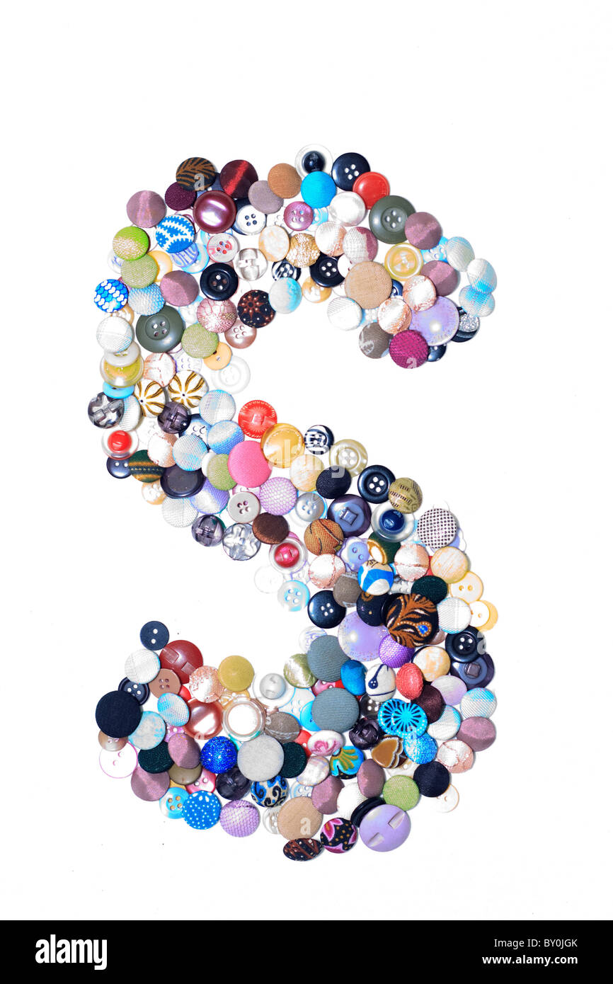 S letter of buttons - Stock Image